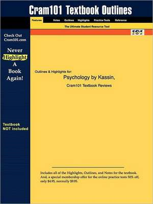 Studyguide for Psychology by Kassin, ISBN 9780130496416 de 4th Edition Kassin