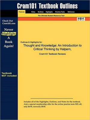 Studyguide for Thought and Knowledge de 4th Edition Halpern