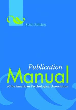 Publication Manual of the American Psychological Association imagine