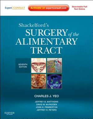 Shackelford's Surgery of the Alimentary Tract - 2 Volume Set