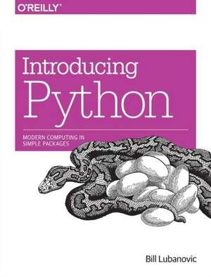 Introducing Python de Bill Lubanovic