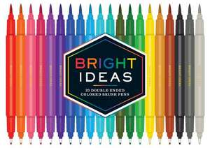 Bright Ideas Double-Ended Colored Brush Pens de Chronicle Books