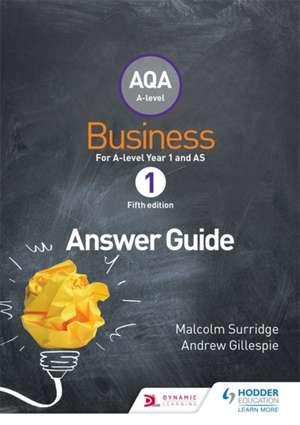 AQA Business for A Level 1 (Surridge & Gillespie): Answers imagine