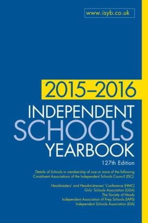 Independent Schools Yearbook 2015-2016