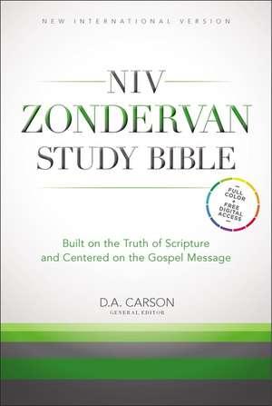 NIV Study Bible Burgundy Bonded Leather de  New International Version