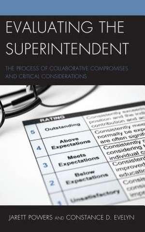 EVALUATING THE SUPERINTENDENTCB de Constance D. Evelyn