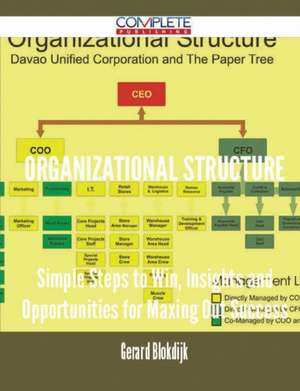 Organizational Structure - Simple Steps to Win, Insights and Opportunities for Maxing Out Success de Gerard Blokdijk