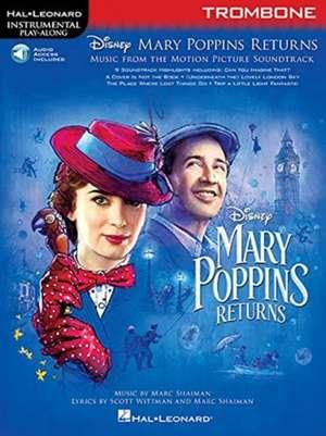 Mary Poppins Returns for Trombone: Instrumental Play-Along Series de  Hal Leonard Corp