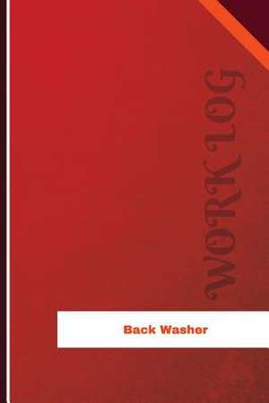 Back Washer Work Log de Logs, Orange