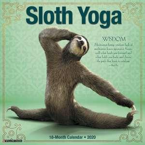 Sloth Yoga 2020 Mini Wall Calendar de  Willow Creek Press