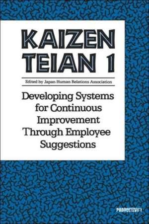 Kaizen Teian 1 de Productivity Press Development Team