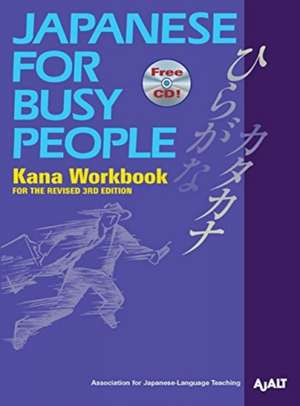 Japanese For Busy People Kana Workbook imagine