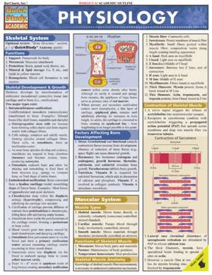 Physiology Laminate Reference Chart de Randy Brooks