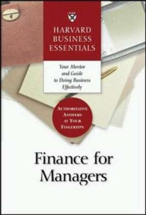 Finance for Managers de Harvard Business School Press