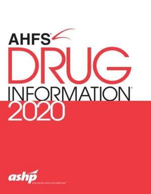 AHFS (R) Drug Information 2020 imagine