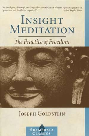 Insight Meditation:  A Psychology of Freedom de Joseph Goldstein