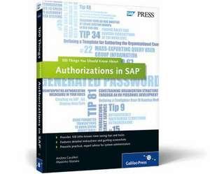 Authorizations in SAP de Andrea Cavalleri