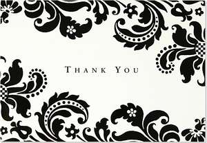 Shadow Tapestry Thank You Notes