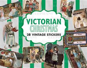 Victorian Christmas: 28 Vintage Stickers de Blue Lantern Publishing