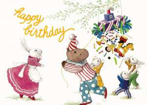 Animals with Pinata Birthday Card [With Envelope] de Laughing Elephant