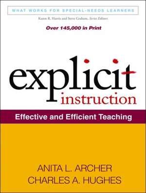 Explicit Instruction:  Effective and Efficient Teaching de Anita L. Archer