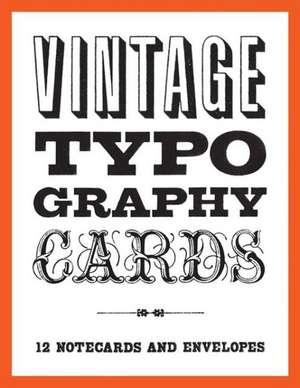 Vintage Typography Notecards de Princeton Architectural Press