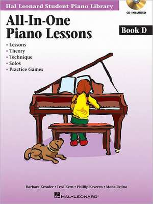 All-In-One Piano Lessons Book D de Fred Kern