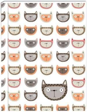Cats Lined Green Journal de Kate Larsen
