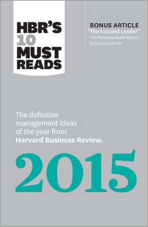 HBR's 10 Must Reads 2015 de Harvard Business Press