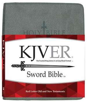 Kjver Sword Study Bible Giant Print Charcoal Grey Ultrasoft de Whitaker House