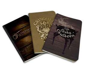 Agende Harry Potter Diagon Alley Pocket Notebook Collection (Set of 3) de  Insight Editions