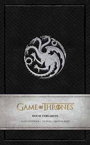 Game of Thrones House Targaryen Ruled Notebook imagine