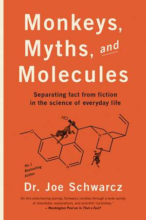Monkeys, Myths And Molecules: Separating Fact from Fiction in the Science of Everyday Life de Joe Schwarcz