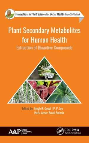 Plant Secondary Metabolites for Human Health