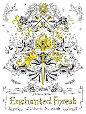 Enchanted Forest:  12 Color-In Notecards de Johanna Basford