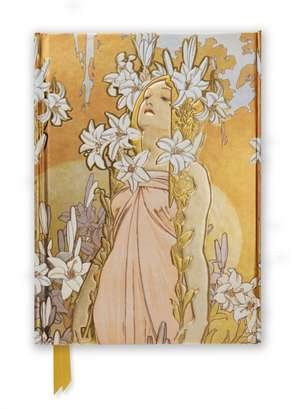 Mucha: The Flowers, Lily (Foiled Journal) de Flame Tree Studio