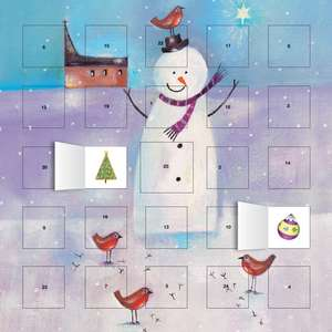 Snowman and Robin advent calendar (with stickers) de Flame Tree Studio