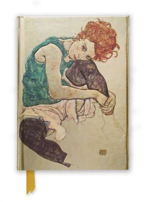 Egon Schiele: Seated Woman (Foiled Journal) de Flame Tree Studio