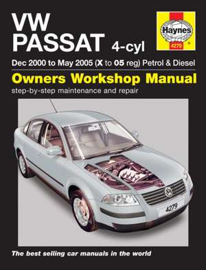 VW Passat Petrol & Diesel (Dec 00 - May 05) Haynes Repair Manual de  Haynes Publishing