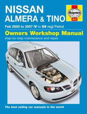 Nissan Almera & Tino Service And Repair Manual de  Haynes Publishing