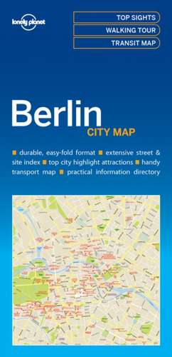 Lonely Planet Berlin City Map de Lonely Planet