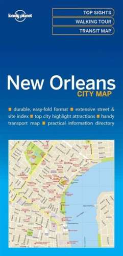 Lonely Planet New Orleanscity Map de Lonely Planet