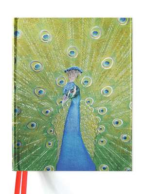 Peacock in Blue and Green (Blank Sketch Book) de Flame Tree Studio