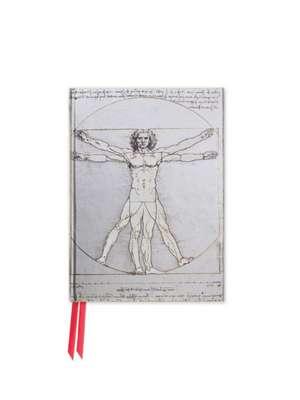 Da Vinci: Vitruvian Man (Foiled Pocket Journal) de Flame Tree Studio