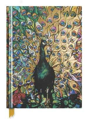 Tiffany: Displaying Peacock (Blank Sketch Book) de Flame Tree Studio