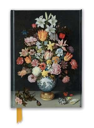 National Gallery: Bosschaert the Elder - Still life of Flowers (Foiled Journal) de Flame Tree Studio