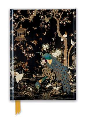 Ashmolean Museum: Embroidered Hanging with Peacock (Foiled Journal) de Flame Tree Studio