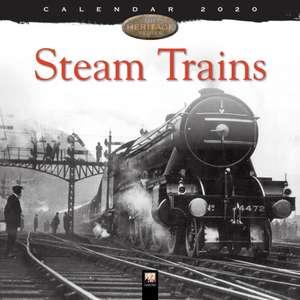 Steam Trains Heritage Wall Calendar 2020 (Art Calendar) de Flame Tree Studio