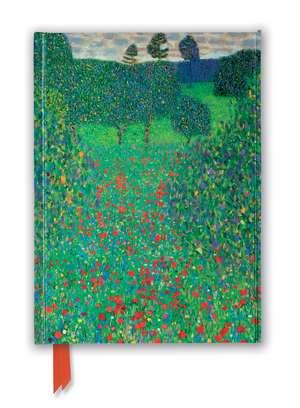 Gustav Klimt: Poppy Field (Foiled Journal) de Flame Tree Studio