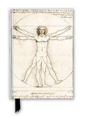 Leonardo da Vinci: Vitruvian Man (Foiled Blank Journal) de Flame Tree Studio